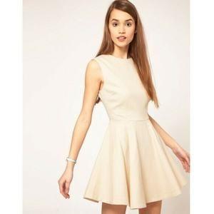 ASOS Pique Skater Holiday Dress Sleeveless Women 6